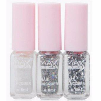 Harga MAXDONA Professional 3-LAYER Gradient Water Based Peel-Off Nail Polish - Code 06 Silver