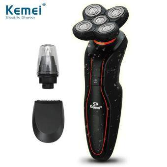 Harga Kemei Men Care Washable 5 Heads Electric Rechargeable Shaver Triple Blade Electric Shaving Razors Men Face Care 5D Floating