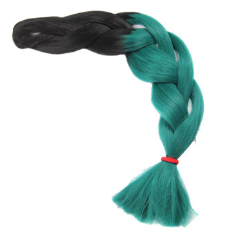 Harga MagiDeal Jumbo Ombre Kanekalon Dyed Synthetic Braided Extension Hair Green