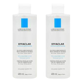 Harga 2 x La Roche-Posay Effaclar Purifying Micellar Water (for Oily and Sensitive Skin) 400ml