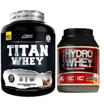 Harga Whey Protein Halal – Titan Whey 2.1kg/4.63lbs,Whey Isolate With 22g Protein, 70 Servings (Chocolate Milkshake) + New Mesotropin Platinum Hydro Whey 1kg, 33 Servings Per Container– Fast Muscle Recovery (Chocolate)