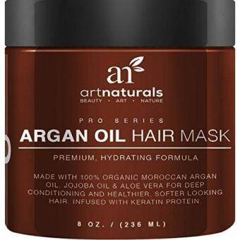 Harga ArtNaturals Argan Oil Hair Mask - Deep Conditioner, 100% Organic Jojoba, Aloe Vera and Keratin, Repair Dry, Damaged or Color Treated Hair after Shampoo for All Hair Types, Sulfate Free, 8 oz.