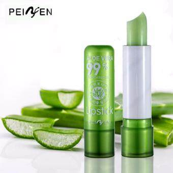Harga 2pcs Soothing and Moisture Aloe Vera 99% Soothing Gel Pink Lip Stick Lip Balm
