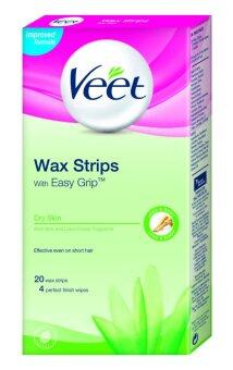 Harga Veet Wax Strip Dry Skin 20'S