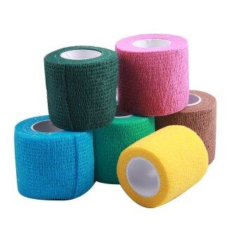 Harga Andux 6 rolls multifunction color woven medical adhesive bandage ZZTXBD-01 Random Color (5cm*4.5m)
