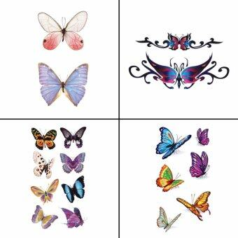 Harga 4 PCS Butterfly Temporary Fake Body Tattoo Sticker Women WY-015