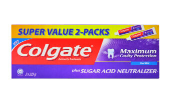 Harga Colgate Sugar Acid Neutraliser Cool Mint Value Twin Pack Toothpaste225g x 2