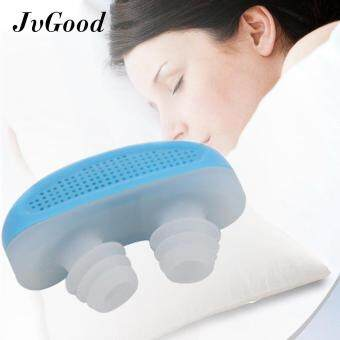 JvGood 2 in 1 Anti Snoring Snore Free Snore Stopper Magnetic Silicone Nose Clip Sleeping Device - Random Color