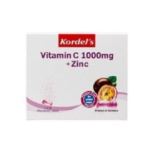Harga KORDELS VITAMIN C 1000MG EFFERVESCENT+ZINC-PASSION FRUITS 10s x 3
