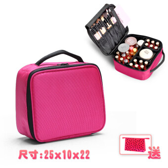 Korean large capacity mini cosmetic bag small portable wash storagebox double portable box cosmetic pouch