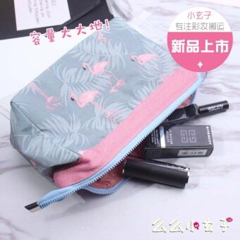 Korean-style Flamingo wash bag waterproof large capacity makeup bagwomen travel convenient makeup products storage bag