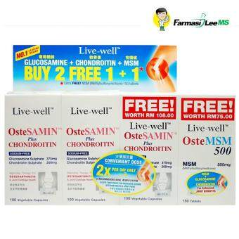 Live-well OsteSAMIN plus Chondroitin 3x100s+ OsteMSM 150s (Exp03/2019)
