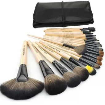 Harga Make Up For You 24 pcs Cosmetic Brushes Set Professional eyeshadowface care Tools (Brown)