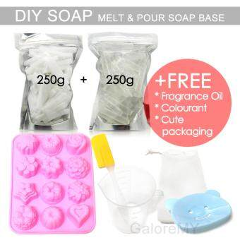 Harga Melt & Pour Soap Base 500g Set | DIY Soap Making Set | M&P Glycerin Soap | Make Your Own Handmade Soap