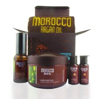 Harga Morocco Gift Set# for Damage Dry Hair Natural Hair Essential OilHair Treatment Products# Formulated in Italy
