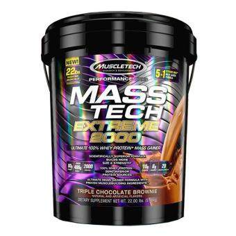 MuscleTech Mass Tech Extreme 2000, Triple Chocolate Brownie, 22lbs