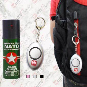 Harga Nato 60ml 10ft Pepper Spray + 120dB Elipse Personal Alarm(Silver)
