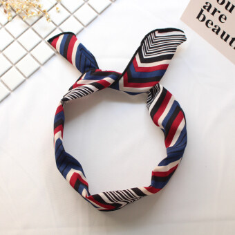 New style rabbit eared hair bands (Blue and green lines pattern pop no. [paragraph] rabbit ears) (Blue and green lines pattern pop no. [paragraph] rabbit ears)