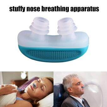 niceEshop Anti Snoring Snore Free Snore Stopper Magnetic SiliconeNose Clip Sleeping Device Stuffy Nose Breathing Apparatus - Blue