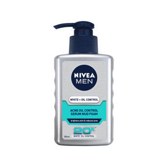 Harga NIVEA FOR MEN Acne Oil Control Serum Mud Foam 100ml 100ML