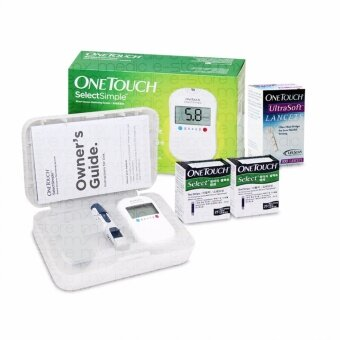 Harga One Touch Select Simple Blood Glucose Monitor with 50s Strips and 100s UltraSoft Lancet