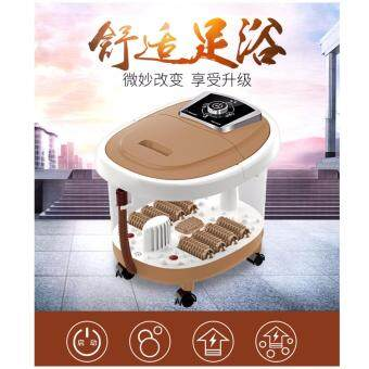 Harga Original Manual Lang Kang Detox Foot Spa Massage (Light Brown)
