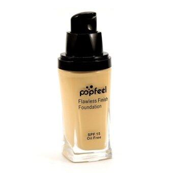 Harga POPFEEL MakeUp Perfection Foundation Full Coverage Flawless MatteFinish FF02