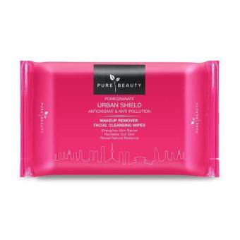 PURE BEAUTY Pomegranate Urban Shield Makeup Remover Wipes 20's 20s