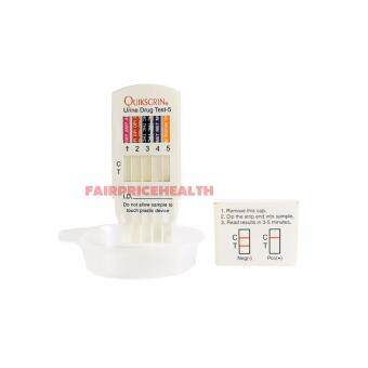 QUIKSCRIN URINE DRUG TEST KIT 5 IN 1 (DRUG ABUSE TEST) X 10