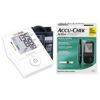 Harga Rossmax X1 Blood Pressure Monitor + Accu-Chek Active Blood Glucose Monitor