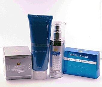 Royal Expert Advance Formula Brightening Cream 50 ml ( silver) + SPF 35 day cream ( 50ml ) + Whitening Soap ( 100g) + Face Cleanser ( 100ml )