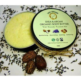 Harga SHEA & ARGAN ORGANIC BODY BUTTER * WITH LAVENDER ESSENTIAL OIL