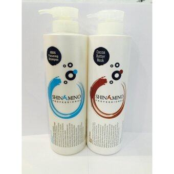 Harga Shinamino Aqua Focusing Shampoo 1000ml+Shinamino Cocoa Mask 1000ml FREE Cooling treatment sample