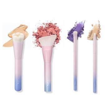 Sinma 4 Pcs Pro Techniques Powder Cosmetic Makeup Brush Set VDL Pantone Liquid Foundation Brush Eyeshadow Brush