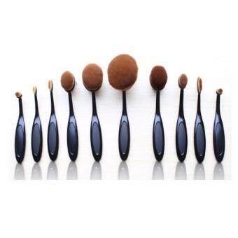 Sinma Professional 10pcs Oval Shape Toothbrush Make Up Cosmetics Brush With Box
