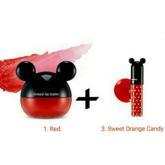 Harga TheFaceShop * 1+1 Disney Tinted Balm & Disney Watery Tint *100% Authentic * Shipped from Korea (Red)