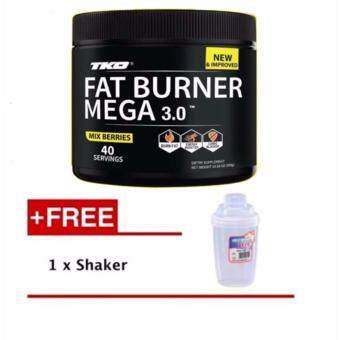 Harga TKO Fat Burner MEGA 3.0 Mix Berries + Free Shaker