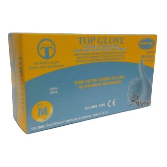 Harga Top Glove Nitrile Gloves Powder Free 100Pcs