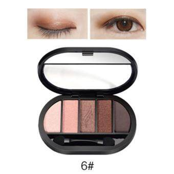 Travel Easy Matte Eye Shadow Makeup 5 Color Glitter Waterproof Natural Eyeshadow Palette Shimmer Easy to Wear Make up