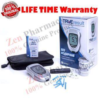 True Result Blood Glucose Monitor Set With 10 Strips(Lifetime warranty)