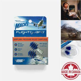 USA Mack's Flightguard Airplane Pressure Relief Earplugs - Macks Reusable Washable Flying Mountain Driving Traveling Air Plane Hearing Protector Protection Noise Blocker Blocking Reduction Ear Plugs Penutup Telinga Pelindung Penyumbat Sumbat Kuping ??