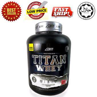 Whey Protein Halal - Titan Whey 2.1kg/4.63lbs,Whey Isolate With 22g Protein, 70 Servings - Fast Muscle Recovery (Strawberry Milkshake)