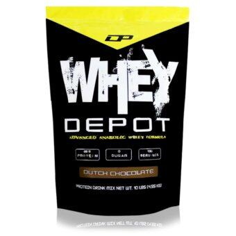 Whey Protein - Whey Depot 10lb, 100% Whey Isolate With 28g Protein Per Serving (Dutch Chocolate)