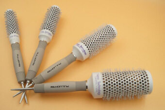 Wire air roll comb air thermal fluffy hair comb