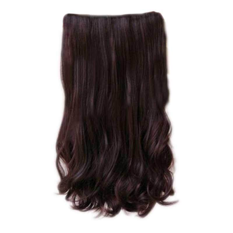 Women wig long curly wavy hair extension wig 60cm with 5 clips women wig long curly wavy hair extension wig 60cm with 5 clips lazada malaysia pmusecretfo Images