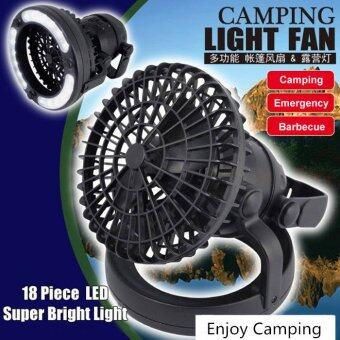 2 in 1 camping 18 pieces Led light with ceiling fan tent light and tent fan camping equipment comfortable camping camping lamp