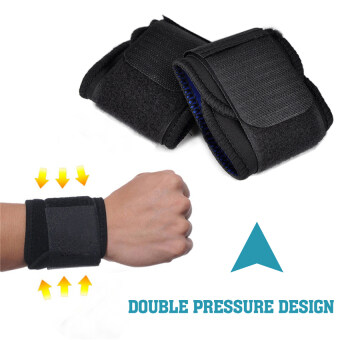 2016 High Quality New Adjustable Sports Wrist Brace Wrap BandageSupport Gym Strap Wristband(black) - 3
