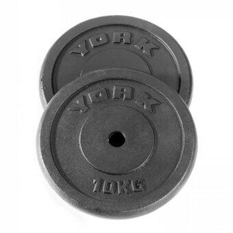 20kg York Fitness Weight Plate (Black)