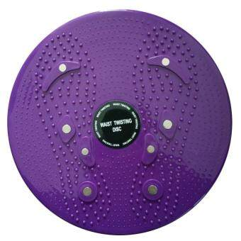 360WISH Waist Twisting Disc Ankle Body Aerobic Exercise Figure Trimmer Magnet Balance Rotating Board - Purple