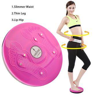 360WISH Waist Twisting Foot Massage Disc Magnet Balance Rotating Board Loss Weight Fitness Equipment - Pink